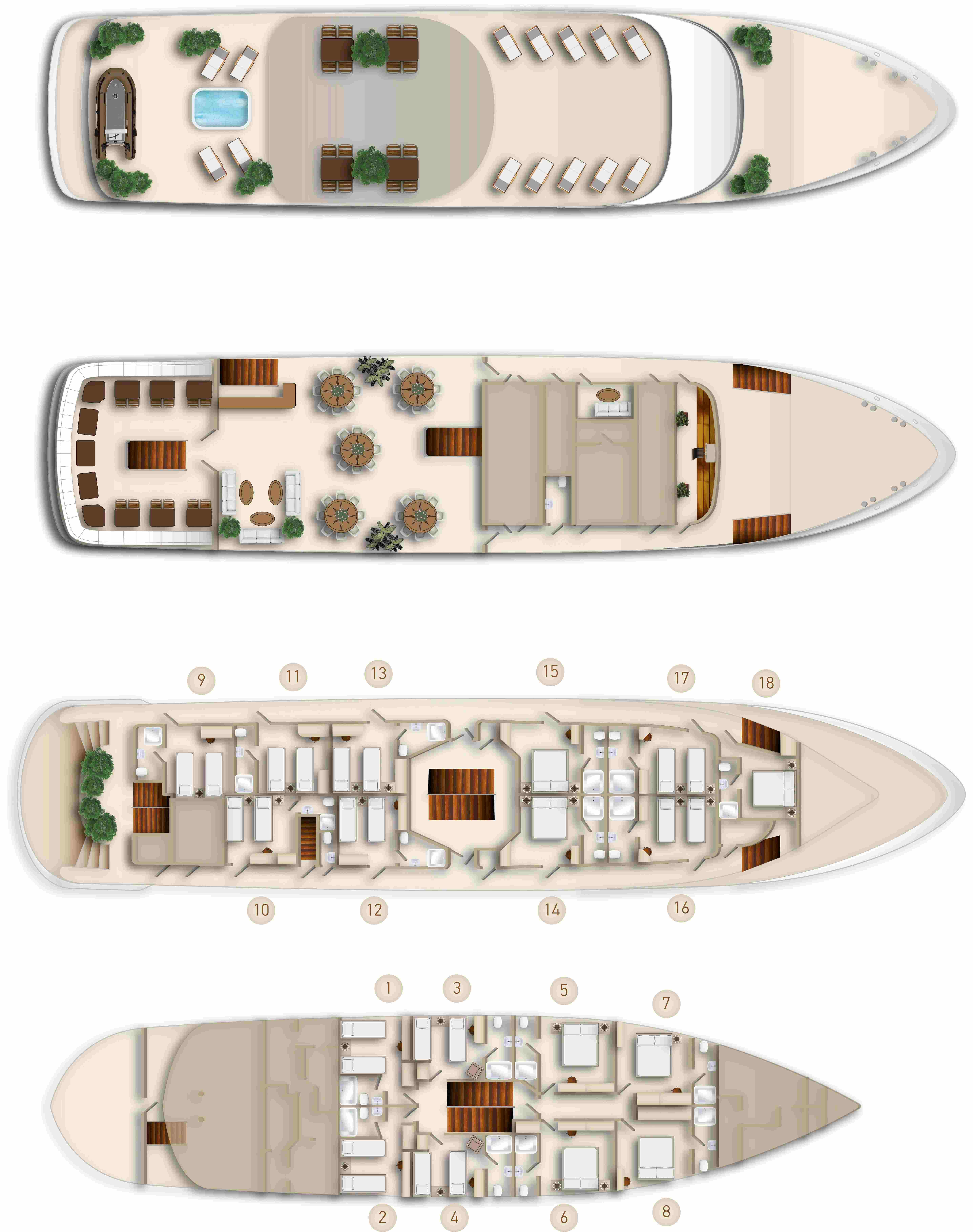 Cabin layout for Invictus