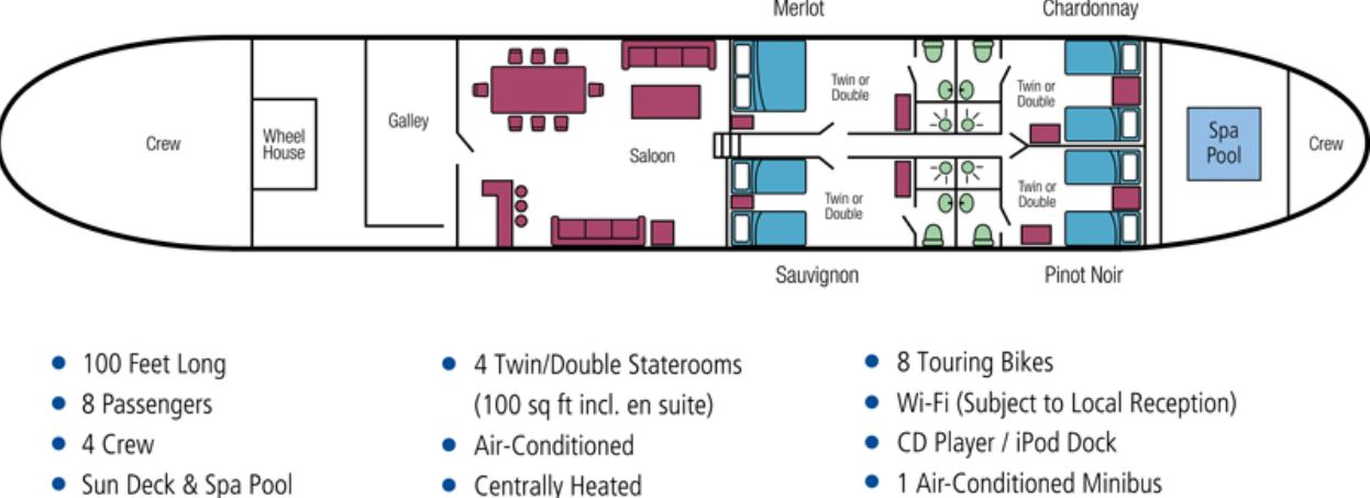 Cabin layout for L'Art de Vivre