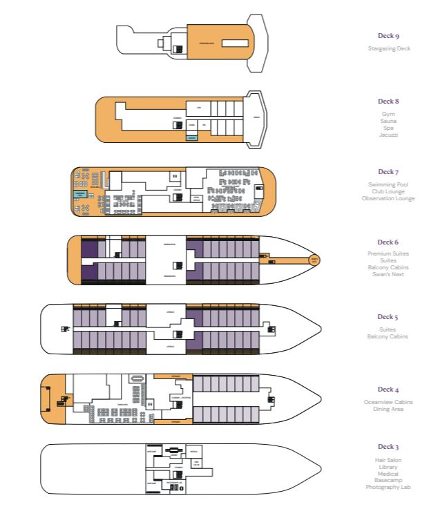 Cabin layout for Minerva