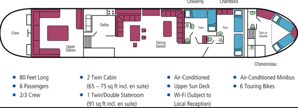 Cabin layout for Nymphea
