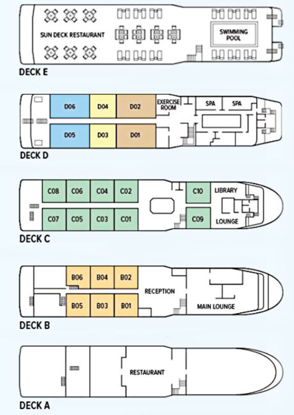 Cabin layout for Oberoi Philae