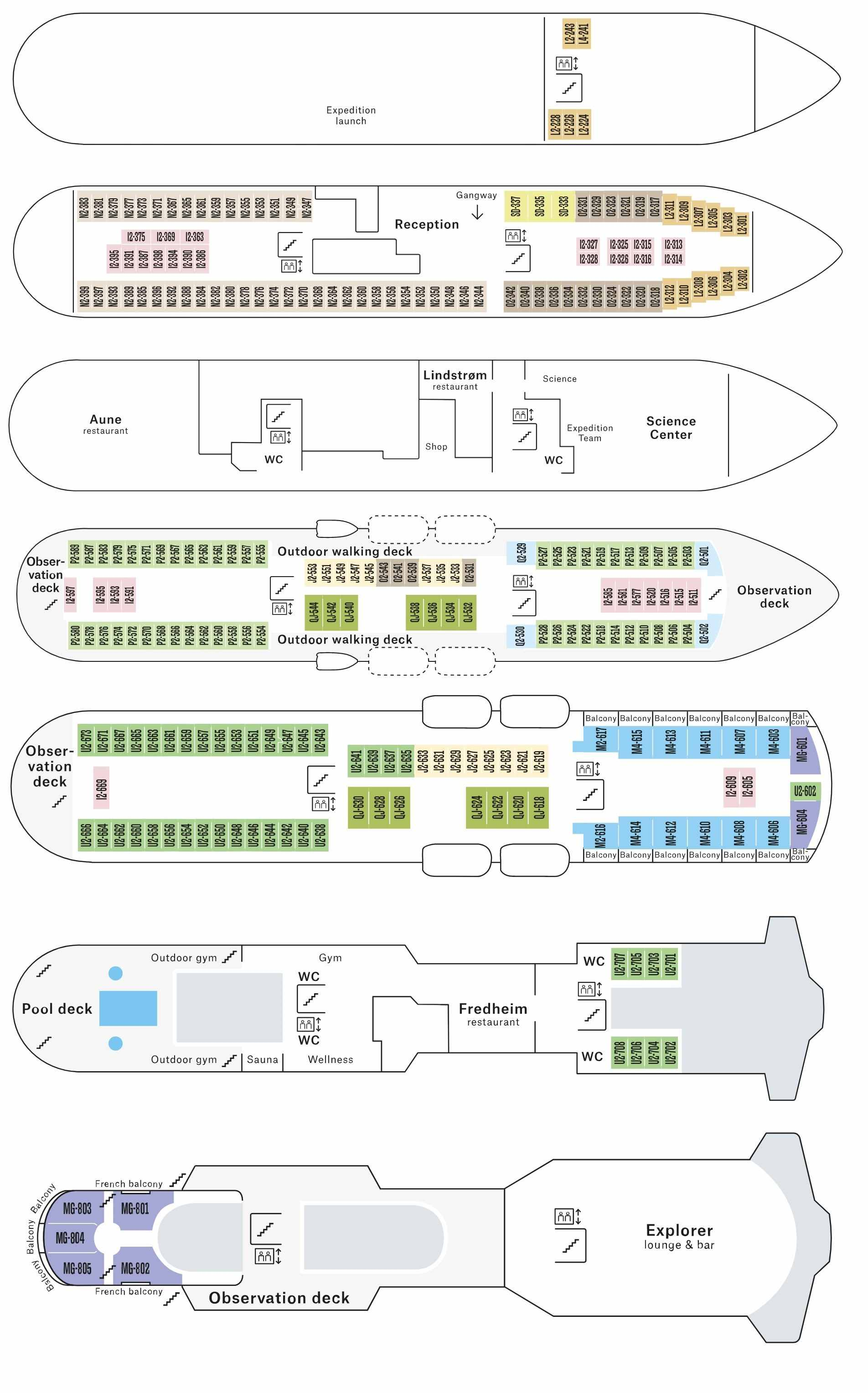 Cabin layout for Otto Sverdrup