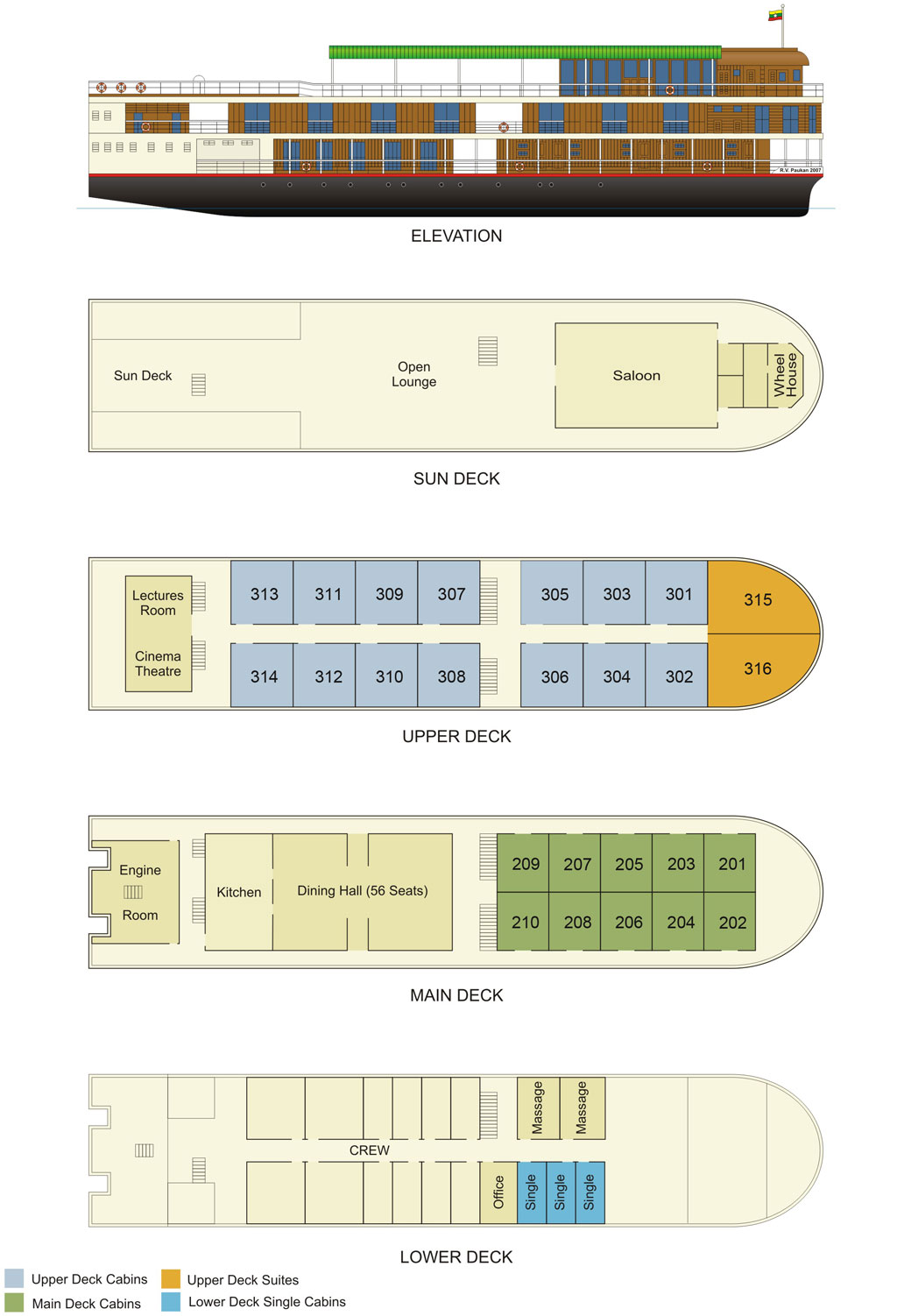Cabin layout for Paukan 2007