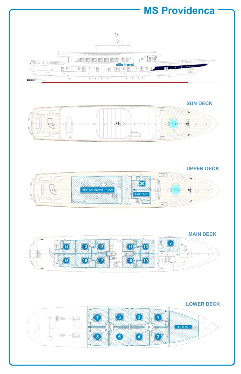 Cabin layout for Providenca