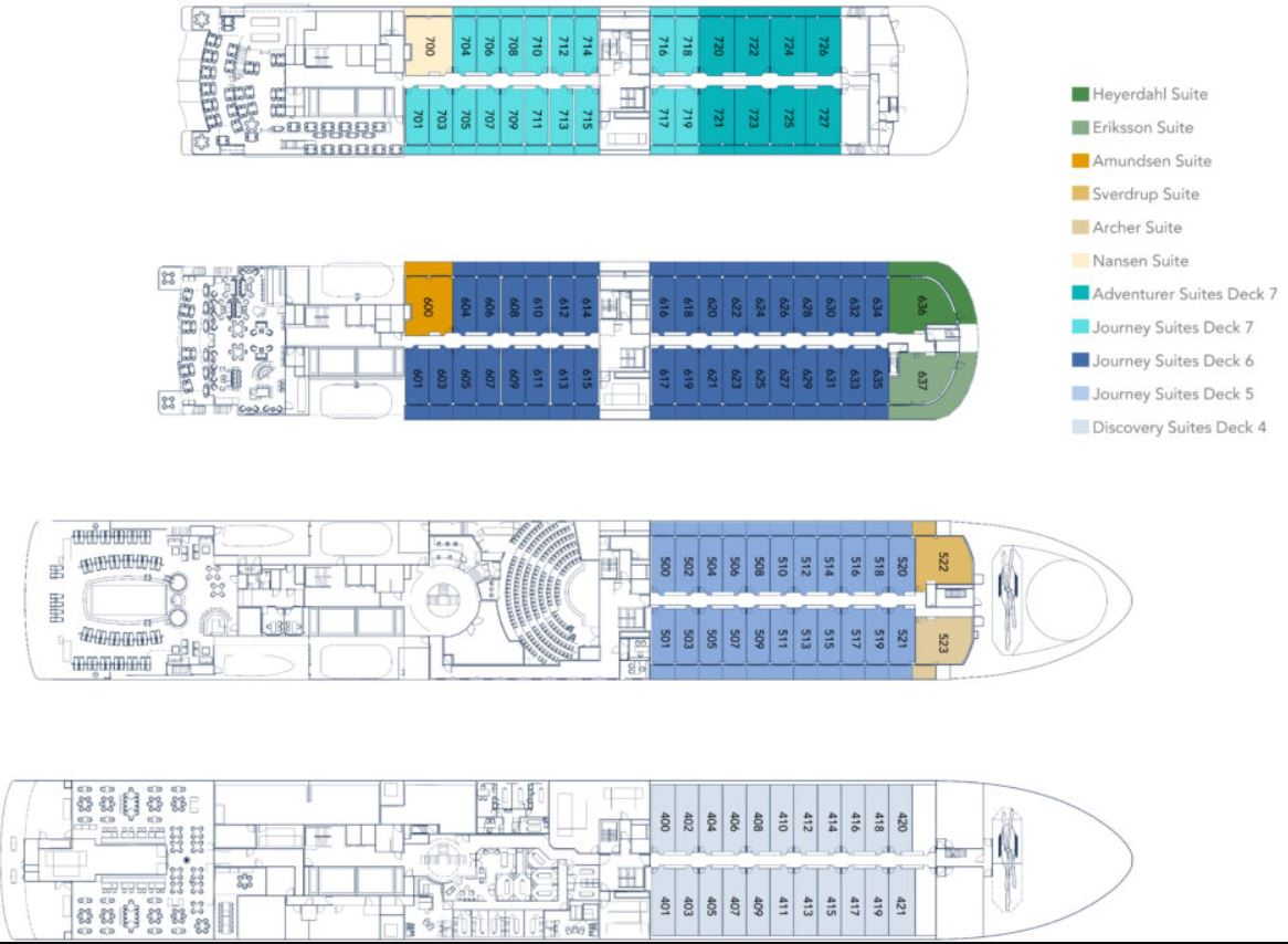 Cabin layout for Sea Dream Innovation