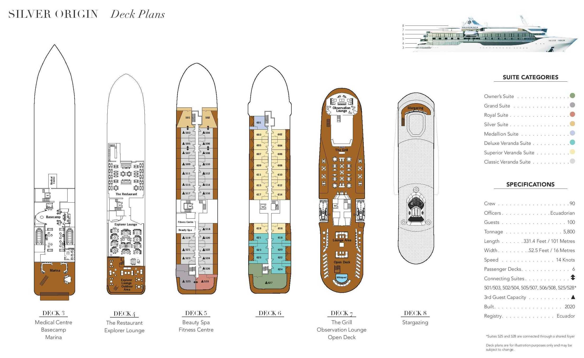 Cabin layout for Silver Origin