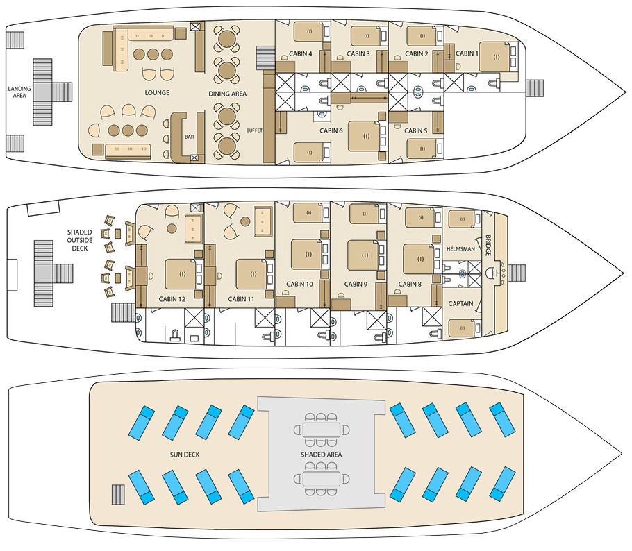 Cabin layout for Solaris
