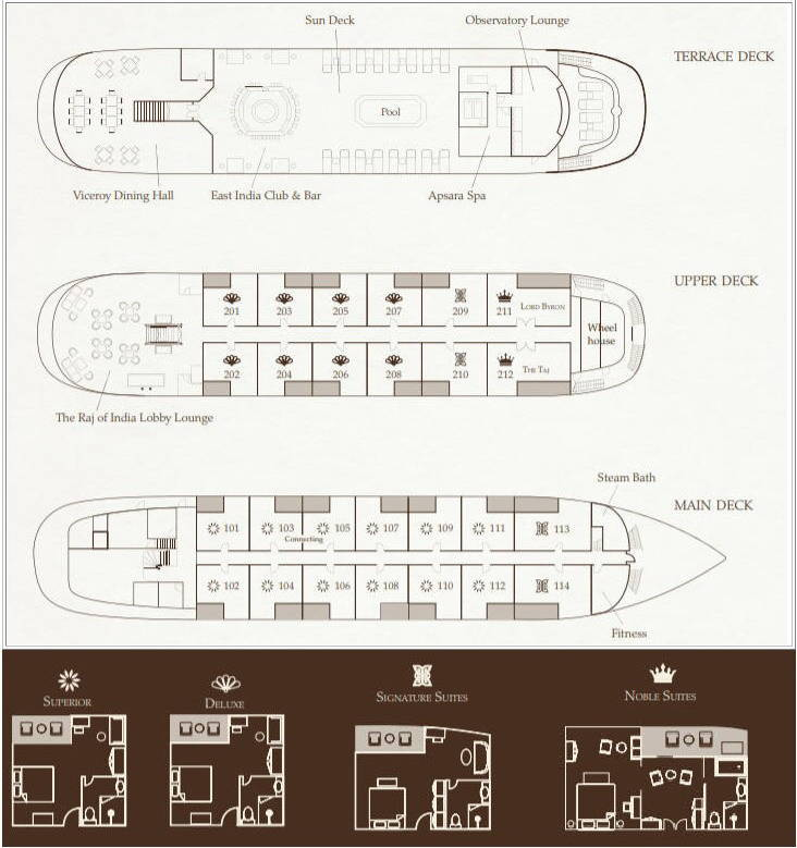 Cabin layout for The Jahan