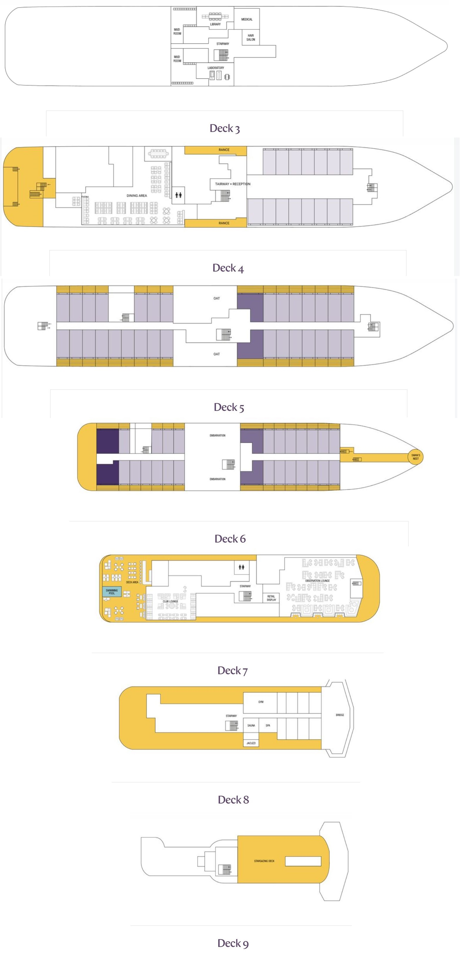 Cabin layout for Vega