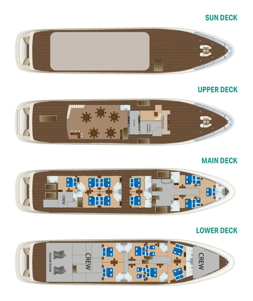 Cabin layout for Cristal