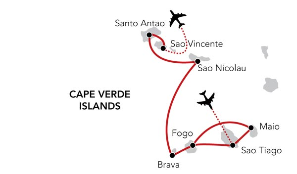 Map for Exploring the Cape Verde Islands (Island Sky)