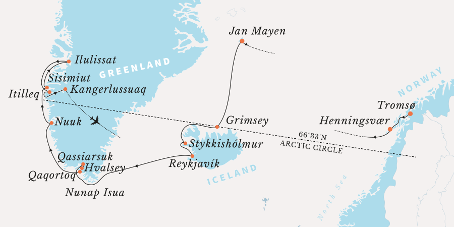 Map for Grand Arctic Traverse