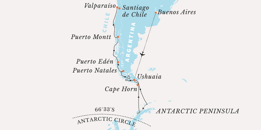 Map for Penguins, Patagonia and Poetry