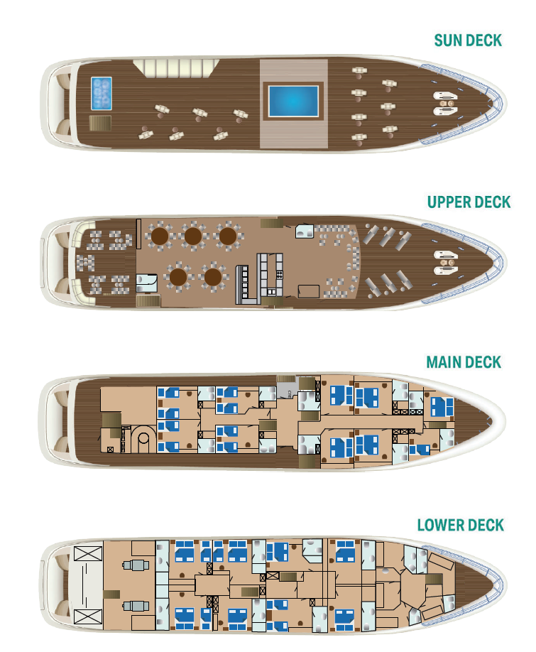 Cabin layout for MS Ban