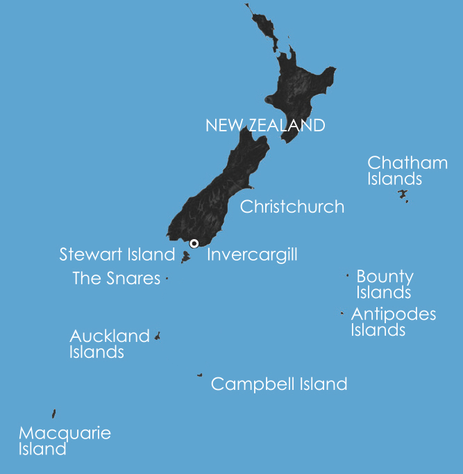 Map for Beyond Fiordland: New Zealand's Wildest Islands 2018