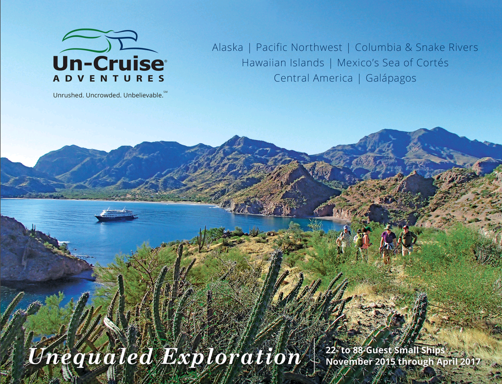 Wild Earth Travel Presents Un-Cruise's 2016 Brochure