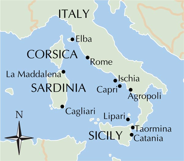 Map Of Italy And Islands.Islands Of Italy Map Map North East