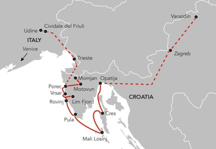 Map for Summer in Istria