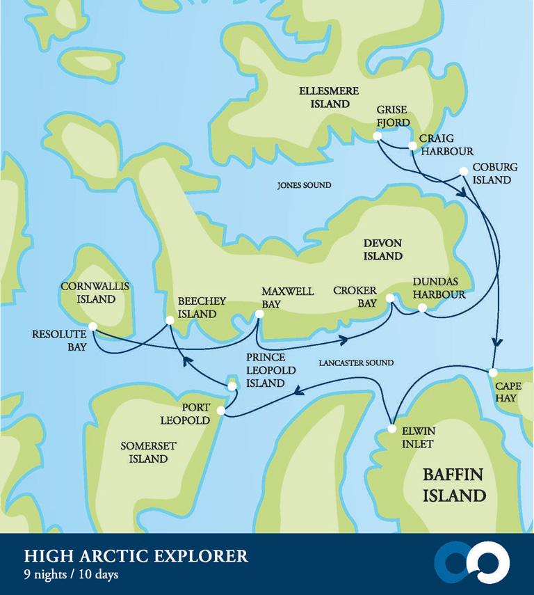 Map for High Arctic Explorer (Akademik Ioffe)