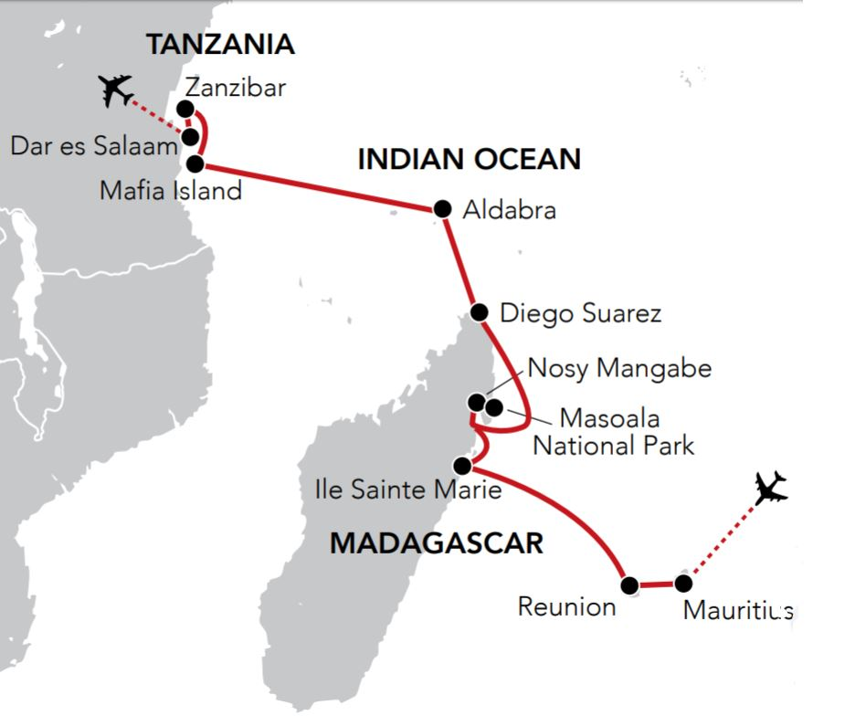 Map for Indian Ocean Island Odyssey