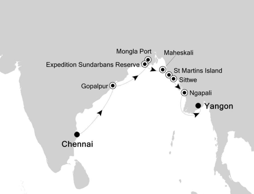 Map for Expedition Sundarbans