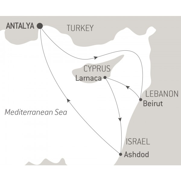 Map for Discovering the Levant