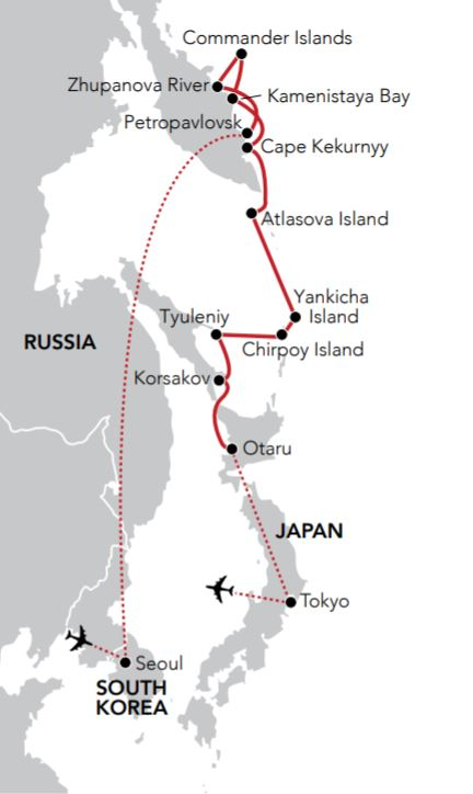 Map for Fire & Ice in the Russian Far East