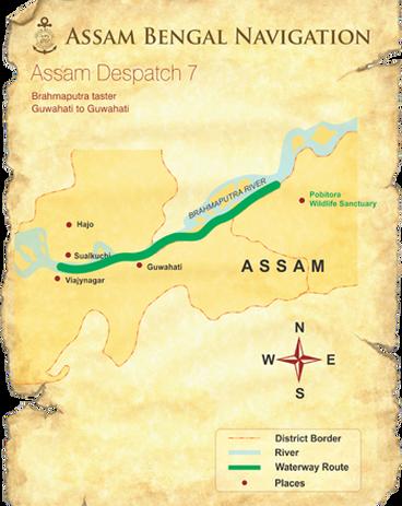 Map for Brahmaputra Taster