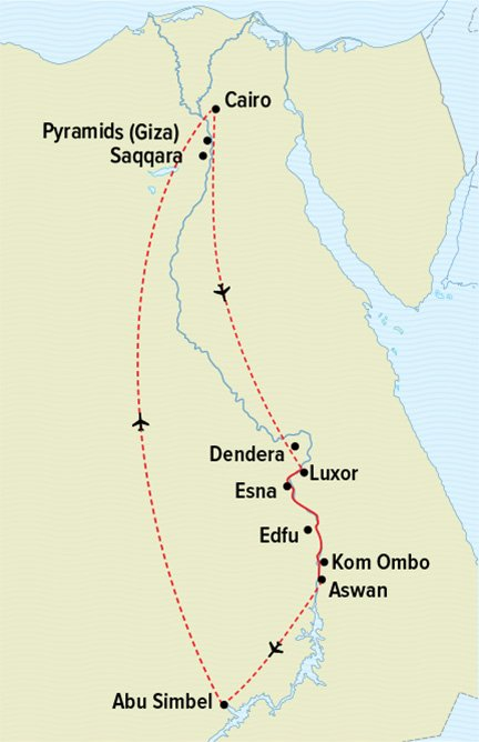 Map for Passage Through Egypt