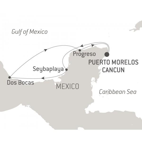 Map for Maya Treasure of the Yucatán