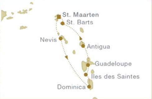 Map for Leeward Islands (Star Flyer)