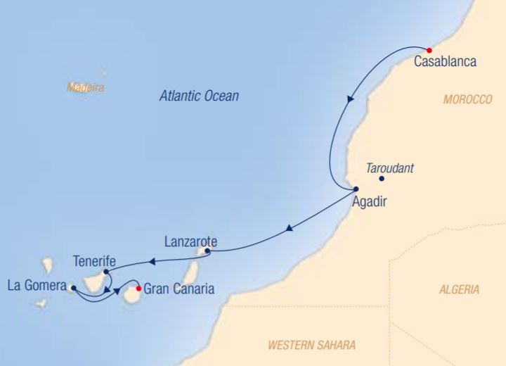 Map for Canary Islands & 1001 Nights