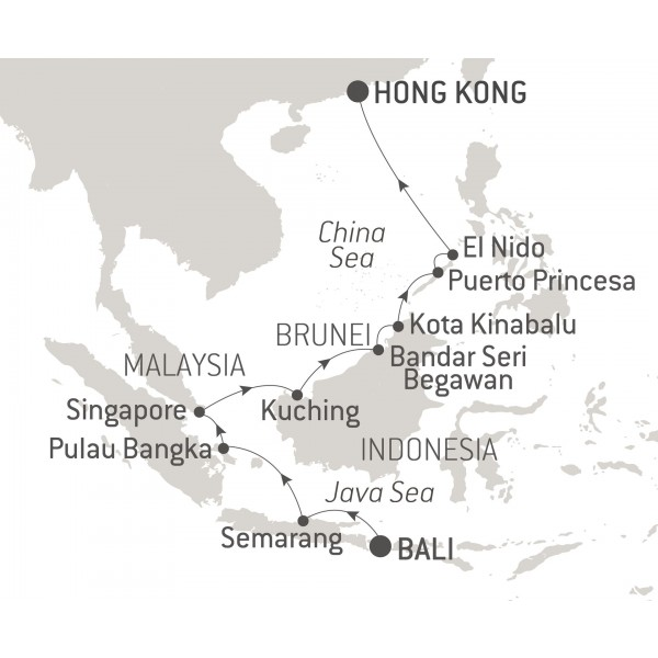 Map for Gems of Southeast Asia