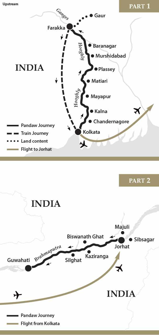 Map for Ganges & Brahmaputra Cruise