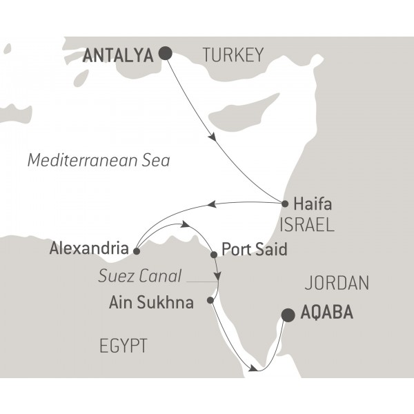Map for Egypt and Israel