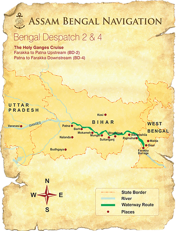 Map for The Holy Ganges (ABN Rajmahal)