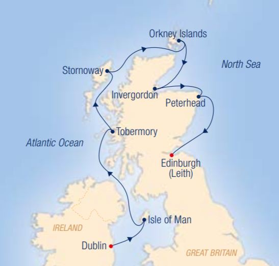 Map for Myths, Magic & the Nature of the Celtic Islands