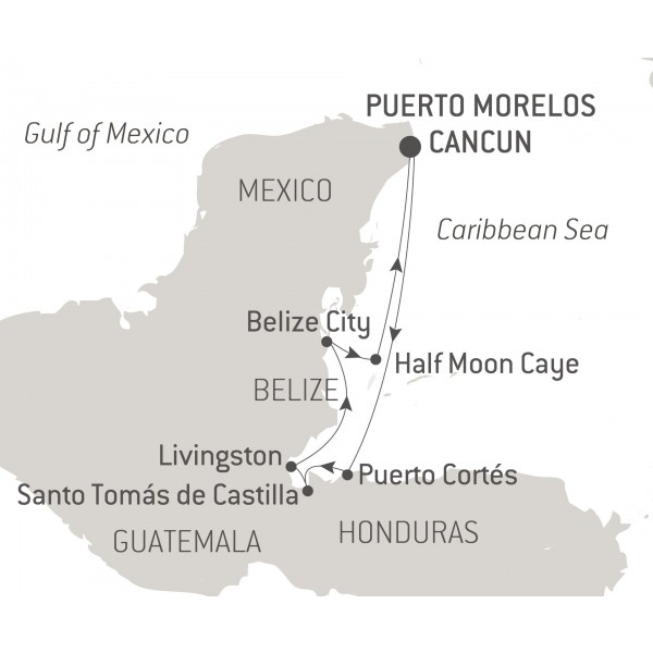 Map for Wonders of the Western Caribbean
