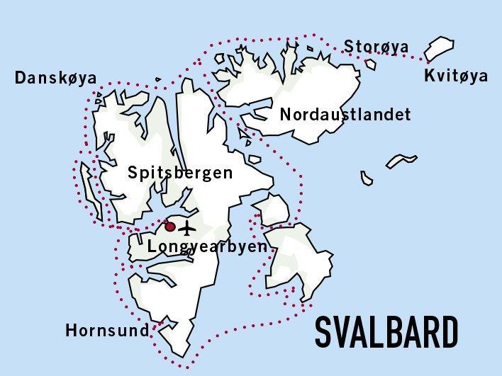 Map for Expedition Svalbard
