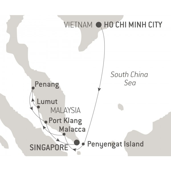 Map for Between Vietnam and the Malacca Strait
