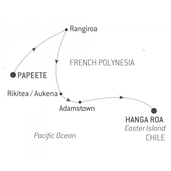 Map for Polynesia and Easter Island 2019