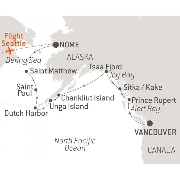 Map for Alaska & Its Fur Traders