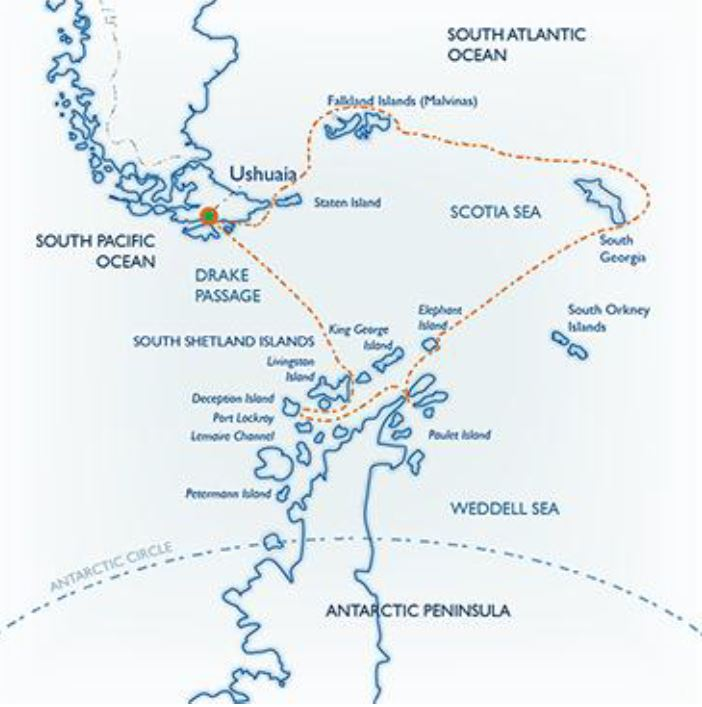Map for Classic South Georgia