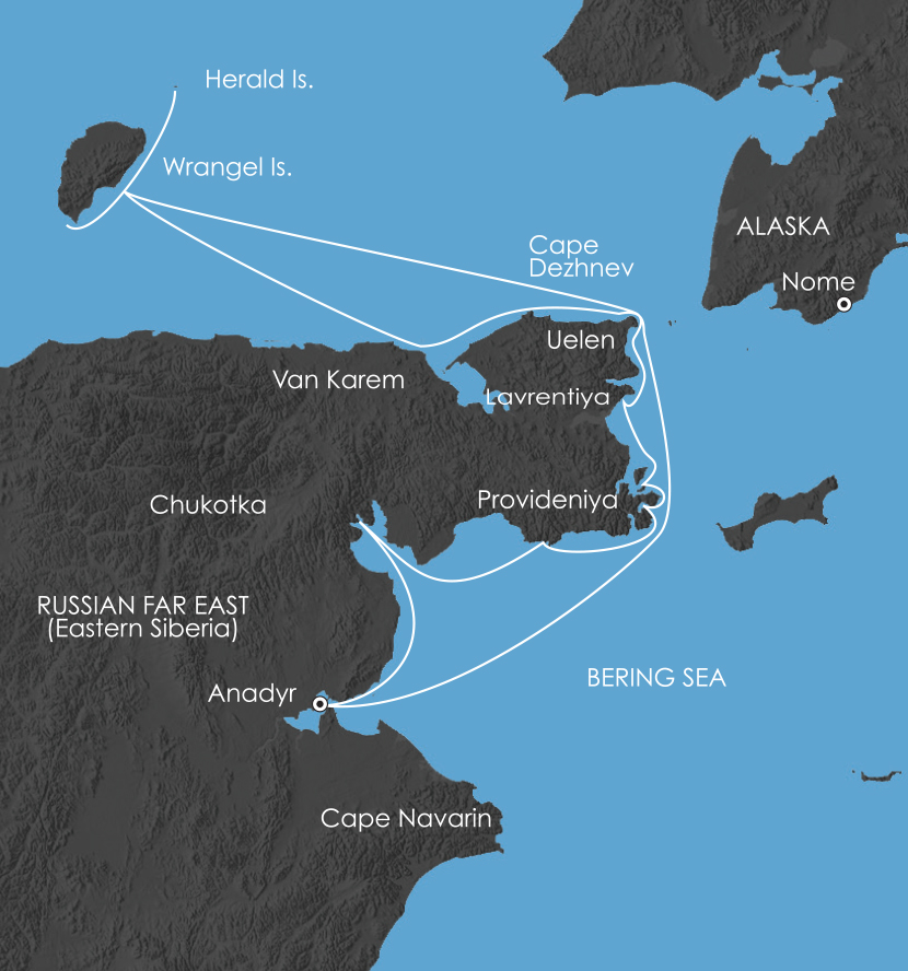 Map for Chukotka: Where Russia's Day Begins 2019