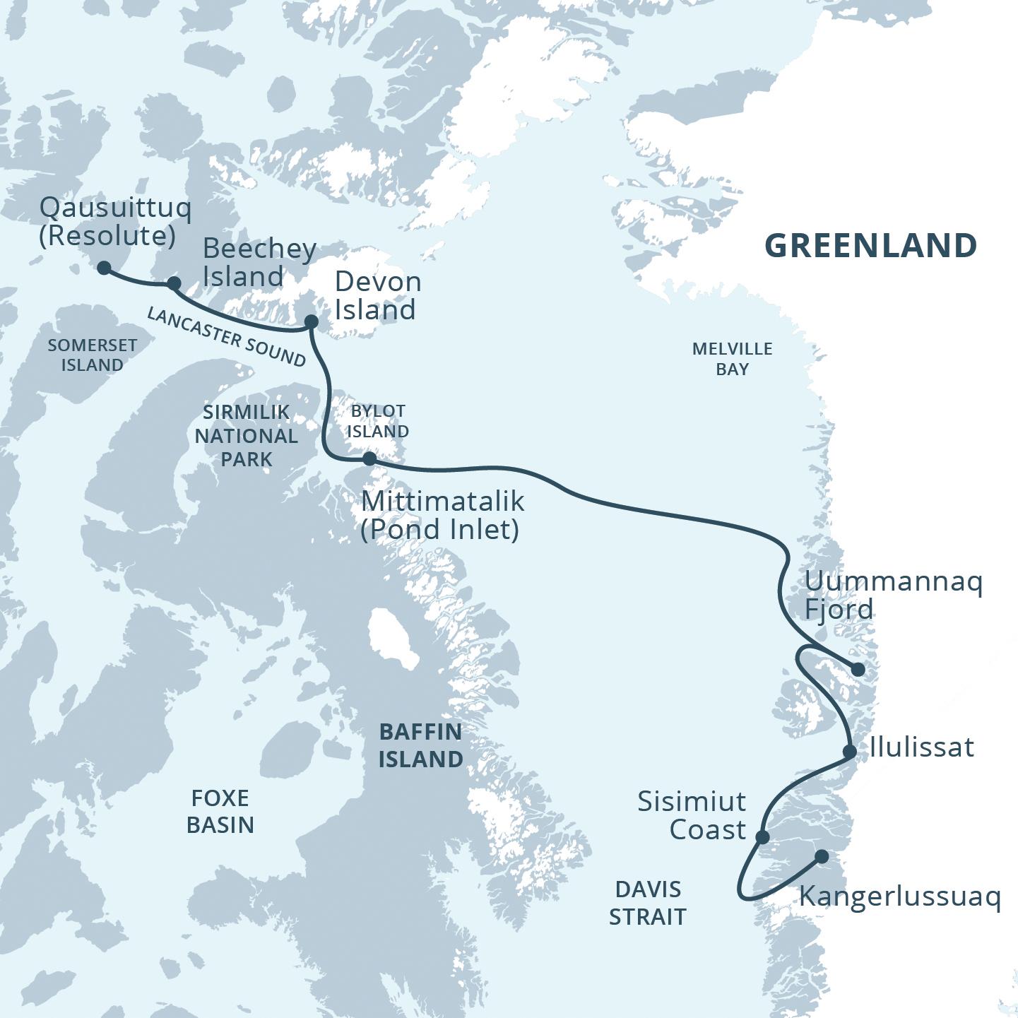 Map for High Arctic Explorer
