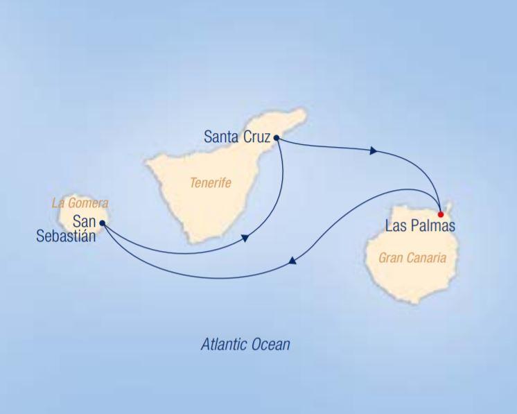 Map for Sunny Canaries: Las Palmas – Las Palmas