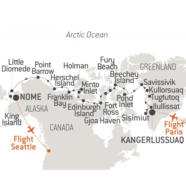 Map for The Northwest Passage (L'Austral)