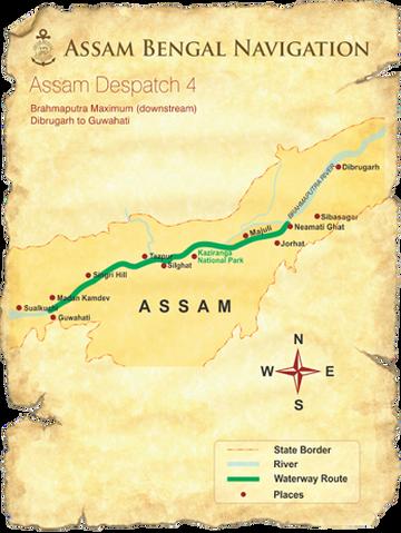 Map for Brahmaputra Maximum