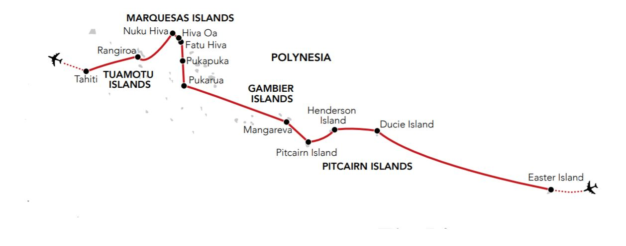 Map for In the Wake of the Bounty 2020 (Island Sky)