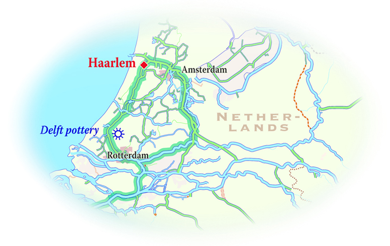 Map for Holland Cruise (La Nouvelle Etoile)